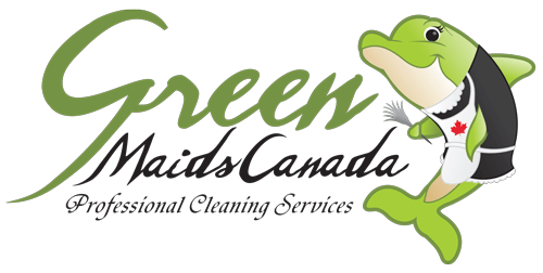 Green Maids Canada House Office Cleaning Company Logo